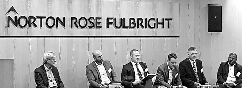 Panel members at the Norton Rose Fulbright insurance discussion